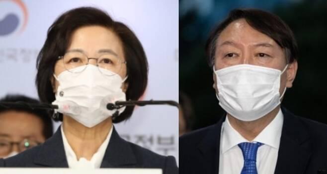 추미애 법무부 장관 vs 윤석열 검찰총장 - 서울신문DB·뉴스1