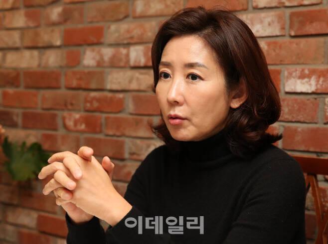 나경원 전 자유한국당 원내대표가 16일 서울 용산구 모처에서 인터뷰를 하고 있다. (사진=방인권 기자)