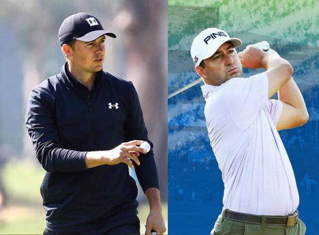 PGA 투어 홈페이지의 통계사이트는 놀라운 것들이 숨어 있는 보물창고와도 같다. 조던 스피스(왼쪽)의 부진을 이해하려면 리버스 바운스 백이라는 통계를 찾아봐야 한다. 오른쪽은 롭 오펜하임.인스타그램 캡처
