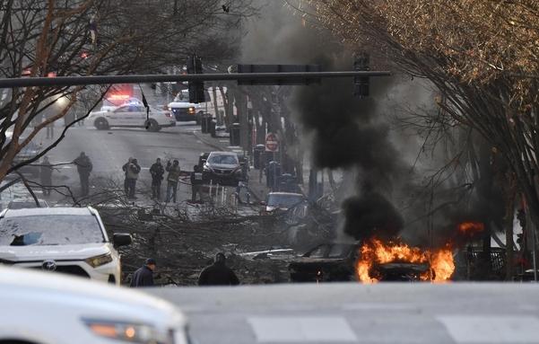 차량 폭발 사건이 터진 내슈빌. /AP 연합뉴스
