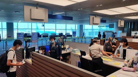 인천공항검역소 모습. 중앙포토