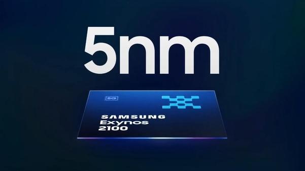 엑시노스 2100은 5㎚(나노미터) EUV(극자외선) 공정으로 만들어져 성능은 높이고, 전력소모를 줄였다./삼성전자 유튜브 캡처
