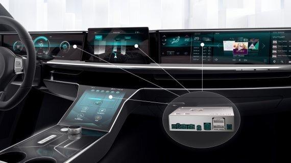 11일 보쉬가 CES 2021에서 공개한 차량용 컴퓨터.
