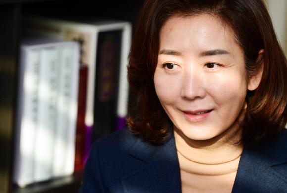 국민의힘 나경원 전 의원 인터뷰.  2021. 1. 4 박윤슬 기자 seul@seoul.co.kr