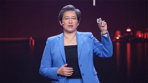 리사 수 AMD CEO가 12일(미국 현지시간) 진행된 CES 2021 기조연설에서 노트북용 라이젠 5000 시리즈 프로세서를 공개하고 있다.  [사진 제공 = CES 2021]