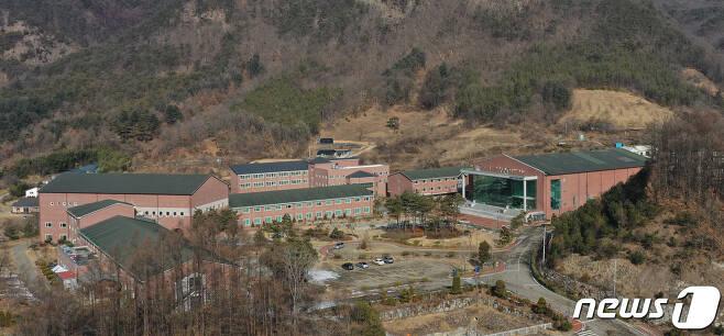 14일 경북 상주시 화서면 상용리 봉황산 끝자락에 위치한 BTJ 열방센터 모습. 2021.1.14 /뉴스1 © News1 공정식 기자