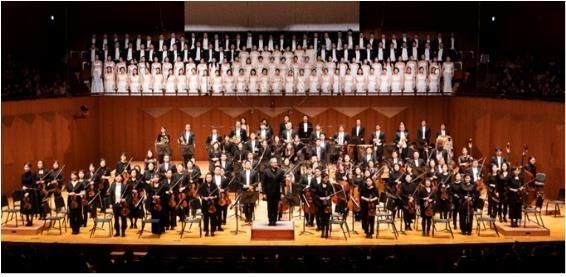 2019년 12월 서울시립교향악단 마르쿠스 슈텐츠의 합창 교향곡 공연. 서울시향 제공