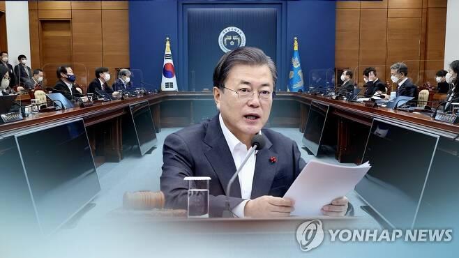 문대통령 국무회의 주재(CG) [연합뉴스TV 제공]