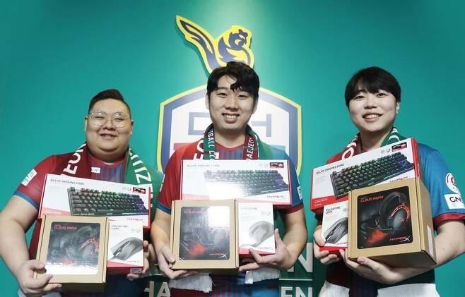 (왼쪽부터)대전하나시티즌 김시경, 신보석, 최승혁(사진=대전하나시티즌 제공).