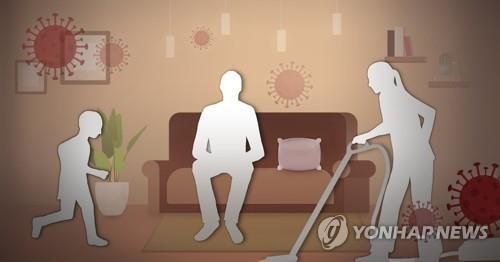 코로나19 가족 간 감염 (PG) [홍소영 제작] 일러스트