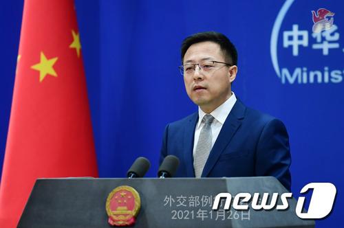 자오리젠 중국 외교부 대변인 (중국 외교부 홈페이지) © 뉴스1