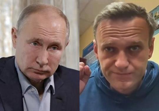 블라디미르 푸틴 러시아 대통령(왼쪽 사진)과 야권 운동가 알렉세이 나발니. 리아노보스티, 모스크바EPA 연합뉴스
