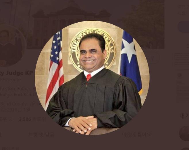 KP 조지(KP George) 미국 텍사스주 포트 밴드 카운티 판사. [KP 조지 판사 트위터 캡처]