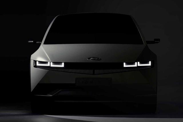 현대자동차의 전기차 브랜드 '아이오닉'의 첫 번째 차량 '아이오닉5'의 티저 이미지. 현대자동차 제공