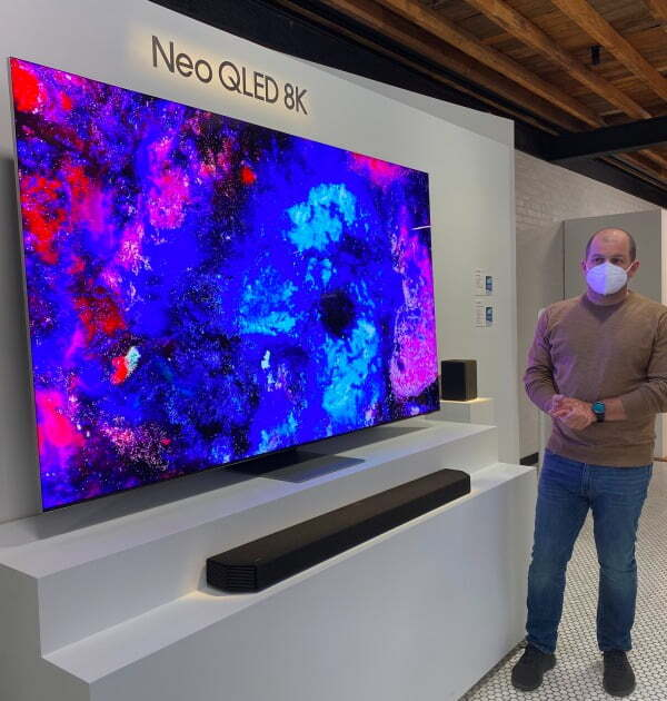 미니 LED TV 기반인 삼성 '네오 QLED TV 8K 모델'/사진=연합뉴스