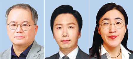 오정일 교수, 강호석 변호사, 이유봉 연구위원(왼쪽부터)