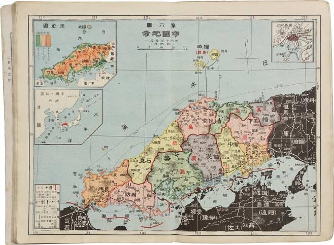 독도가 그려지지 않은 일본 시마네현지도(1908) [독도재단 제공. 재판매 및 DB 금지]