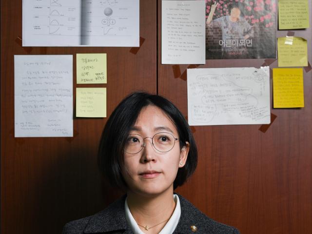 장혜영 정의당 의원을 19일 서울 국회에서 만났다. 그는 미국 시사주간지 '타임'이 선정한 '넥스트 100인'에 유일한 한국인으로 이름을 올렸다. 이한호 기자