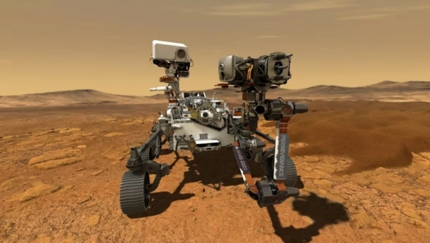 화성 지표에 착륙한 탐사로버 퍼서비어런스 상상도