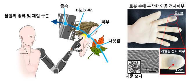 인공 전자 피부 구조 - 포스텍 제공