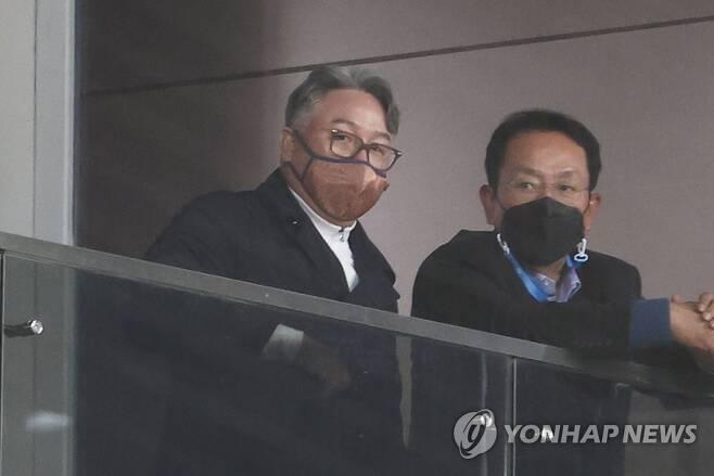 김경문 야구대표팀 감독(왼쪽) [연합뉴스 자료사진]