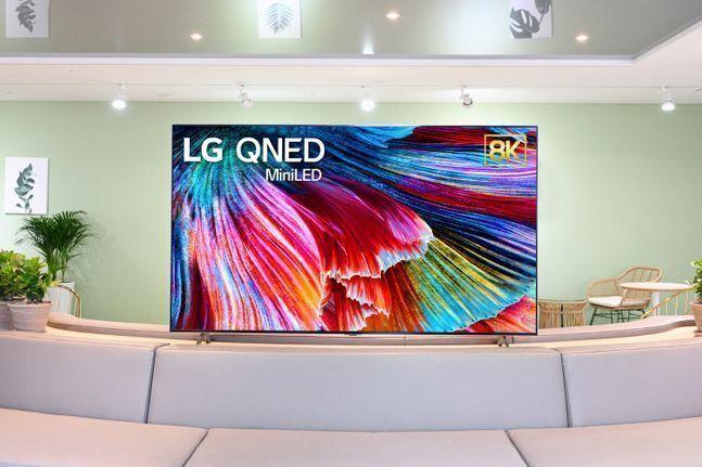 LG전자 미니 발광다이오드(LED) TV 'LG QNED'.ⓒLG전자