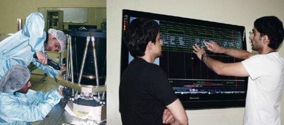 UAE 젊은 과학도들의 한국 유학 생활. 이들은 한국의 위성 제작 기업 쎄트렉아이와 KAIST에서 수학했다. 사진 MBRSC