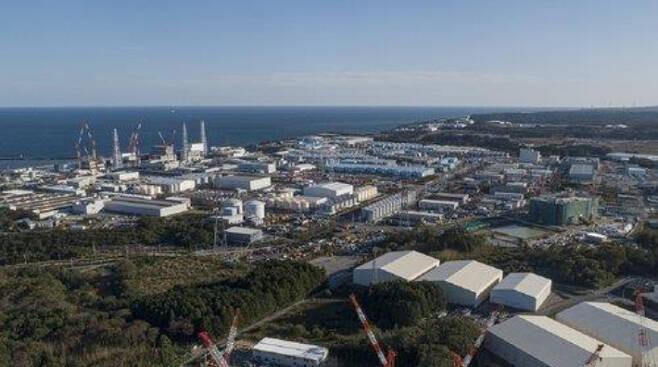 후쿠시마 제1원전 전경. 그린피스 제공
