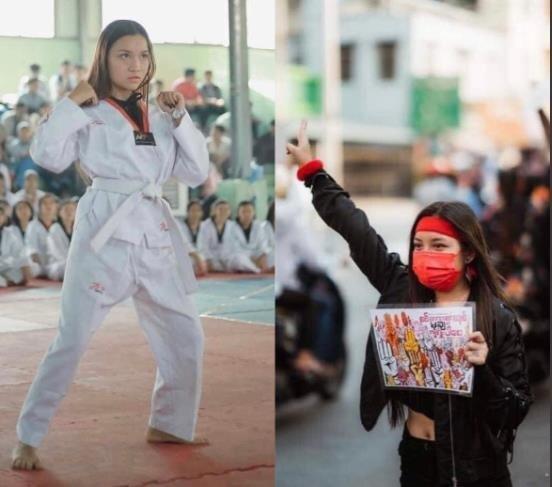 시위 현장에서 총격으로 숨진 미얀마 19세 소녀 [트위터 캡처. 재판매 및 DB 금지]