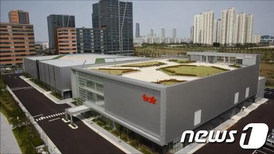 인천 송도에 위치한 일본 TOK의 자회사 'TOK첨단재료' 연구소 및 생산시설 전경(TOK 제공) © News1