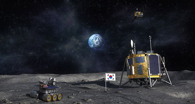 한국의 달 탐사 상상도.(사진=한국항공우주연구원)
