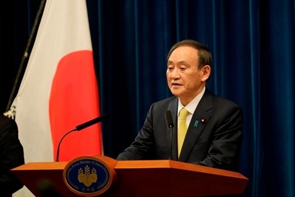 스가 요시히데 일본 총리. AFP 연합뉴스