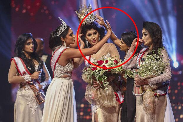 7일 뉴스퍼스트 등 스리랑카 언론과 BBC방송은 '미시즈 스리랑카' 대회 우승자가 행사 막판 왕관을 빼앗기는 일이 발생했다고 보도했다./사진=AFP 연합뉴스