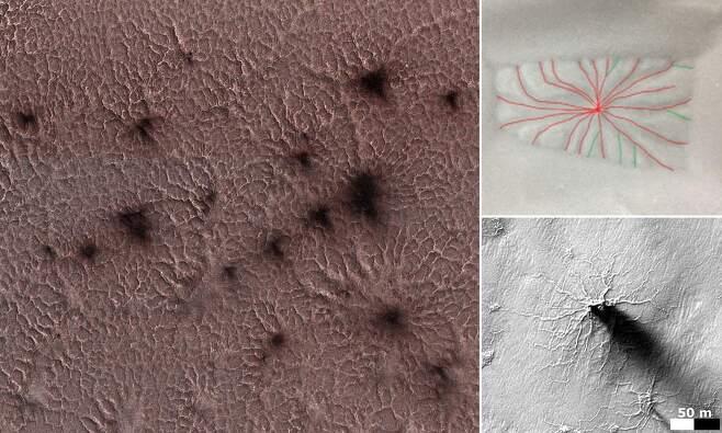 화성 표면에 거미 떼가?…기묘한 무늬 생성 원인 찾았다