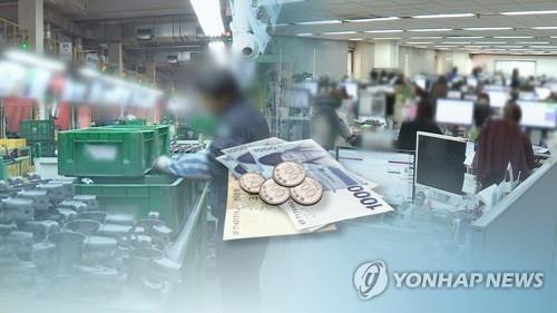 근로자 임금(CG) [연합뉴스TV 제공]