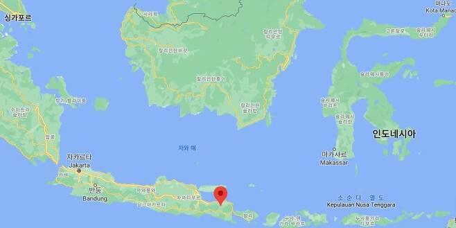 인도네시아 동부자바 본도워소군(빨간점) [구글맵]