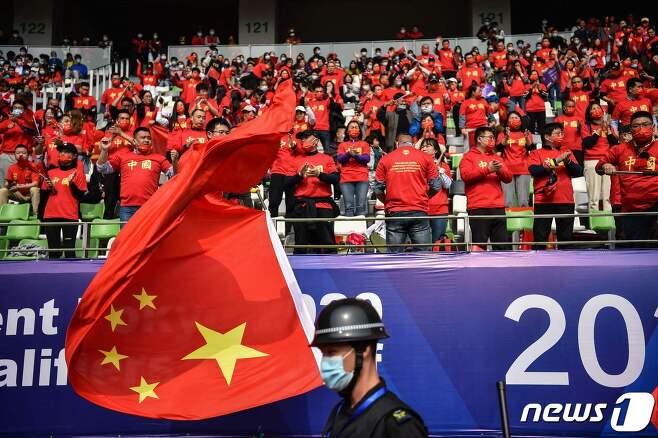 한국과 중국의 경기가 열린 쑤저우 스타디움 © AFP=뉴스1