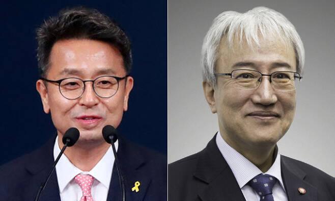 이철희 정무수석(왼쪽), 이태한 사회수석