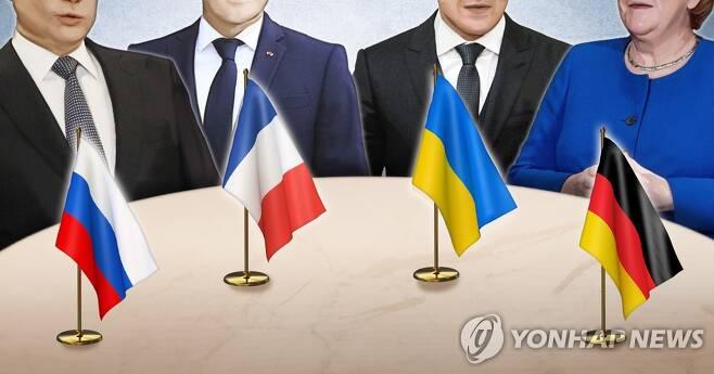 러시아 · 우크라이나 · 프랑스 · 독일 4자 정상회담 (PG) [정연주 제작] 일러스트