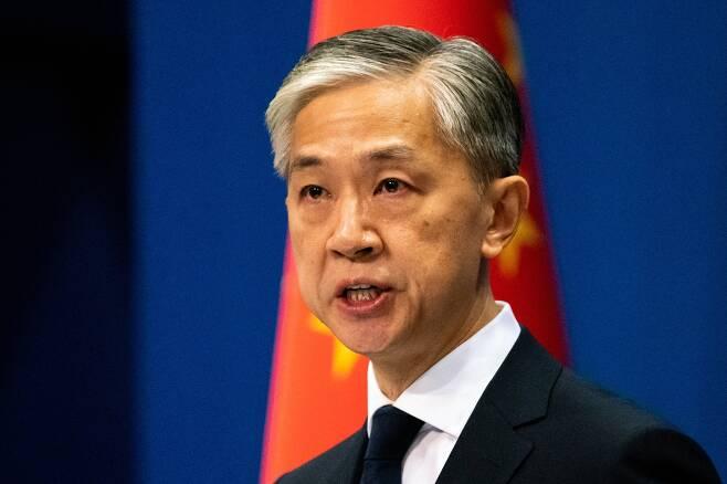 왕원빈 중국 외교부 대변인. 타스=연합뉴스