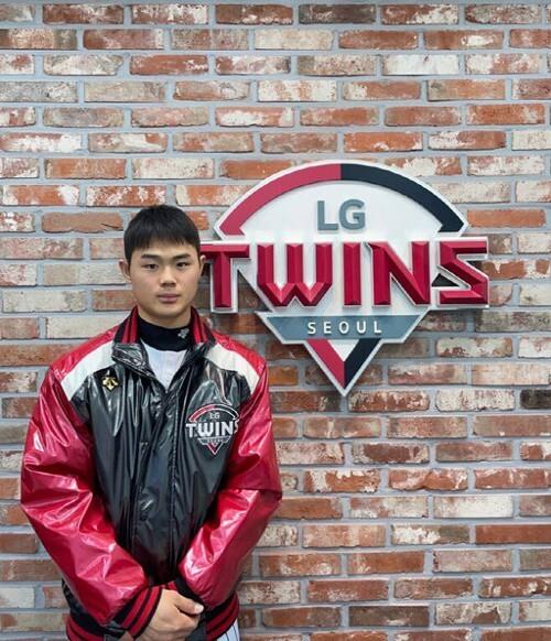 이영빈이 데뷔 처음으로 1군 엔트리에 이름을 올렸다.(LG 트윈스 제공) © 뉴스1