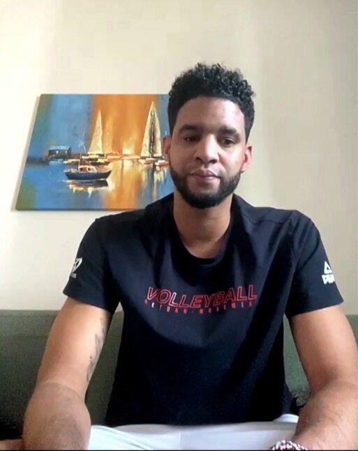4일 KOVO 남자부 외국인 드래프트에 참가한 쿠바 출신 레오./화면 캡처