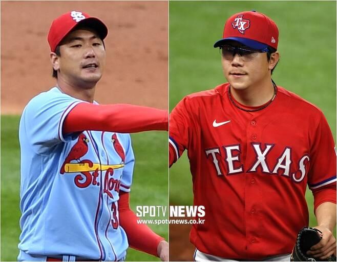 ▲ 김광현(왼쪽)과 양현종. ⓒ 조미예 특파원