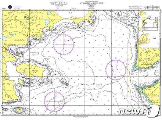2차 조사 성과물을 사용해 제작한 임시해도(해양수산부 제공)© 뉴스1