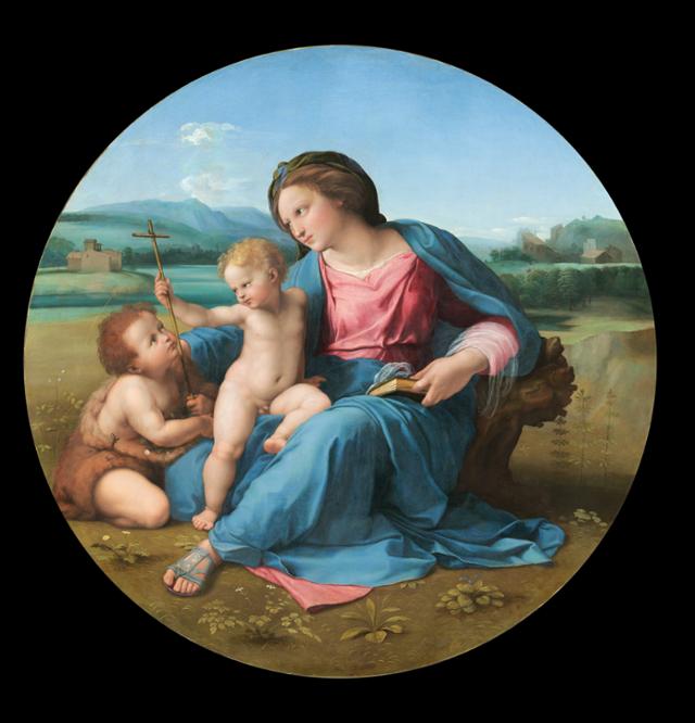 라파엘로(Raphael), 알바 마돈나(Alba Madonna), 1510, 워싱턴 국립미술관 소장
