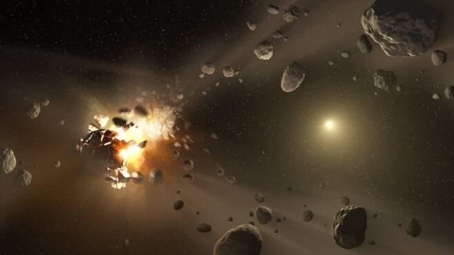 """가상의 소행성을 설정하고 남은 6개월 동안 충돌을 피할 수 있는 방법을 찾는 가상 연구가 진행됐다. 참석한 전문가들은 """"현재로서는 충돌을 회피할 방법이 없다""""고 결론내렸다.  [사진=NASA]"""