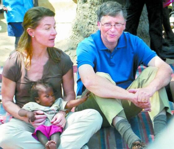 2011년 3월 인도를 방문한 게이츠 부부. [AFP=연합뉴스]