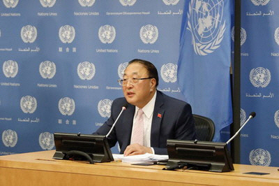 장쥔 유엔 주재 중국대사. 중국 외교부 제공