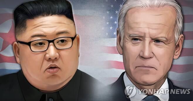 김정은 북한 국무위원장 - 조 바이든 미국 대통령 (PG) [홍소영 제작] 일러스트