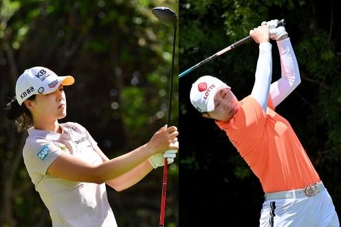 미국여자프로골프(LPGA) 투어에서 활약하는 전인지, 김효주 프로. 사진제공=Getty Images
